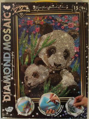 Набор креативного творчества ДАНКО-ТОЙС Diamond Mosaic - Малая панда от 9 лет набор креативного творчества данко тойс diamond mosaic котята от 9 лет dm 01 10