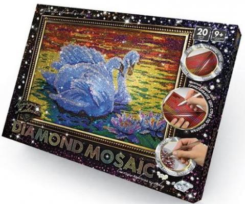 Набор для изготовления картин ДАНКО-ТОЙС Diamond Mosaic Лебеди DM-01-02 от 9 лет