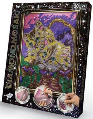 Набор креативного творчества ДАНКО-ТОЙС Diamond Mosaic Котята от 9 лет