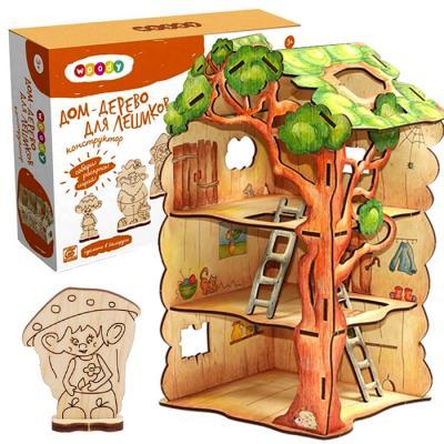 Конструктор WOODY Дом-дерево для лешиков 22 элемента 00730 конструкторы woody дом дерево для лешиков 22 элемента