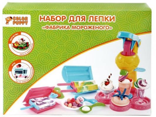 """Набор для лепки Color Puppy """"Фабрика мороженого"""", тесто 250 г, аксессуары 631025"""