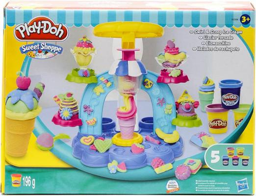 Масса для лепки HASBRO Play-Doh Фабрика Мороженого 5 цветов hasbro игровой набор главная улица play doh город
