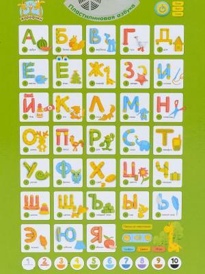 Обучающий плакат Жирафики Пластилиновая азбука для кабинета