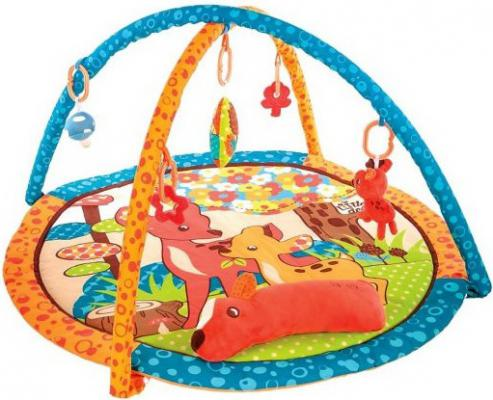 Купить Коврик Жирафики развивающий Оленёнок Бэмби с подушкой, 5-ю развивающими игрушками и пищалкой 939354, Развивающие коврики и дуги