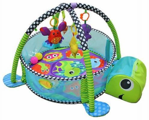 Развивающий игровой центр-коврик Shantou Gepai Черепашка с набором игрушек и шаров, кор. Y8300149