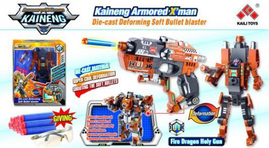 Робот-бластер Shantou Gepai Трансформер с мягкими пулями красный 61251