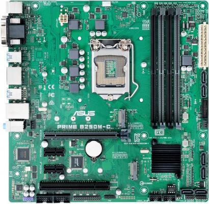 Мат. плата для ПК ASUS PRIME B250M-C Socket 1151 B250 4xDDR4 1xPCI-E 16x 1xPCI 2xPCI-E 1x 6xSATAIII mATX Retail