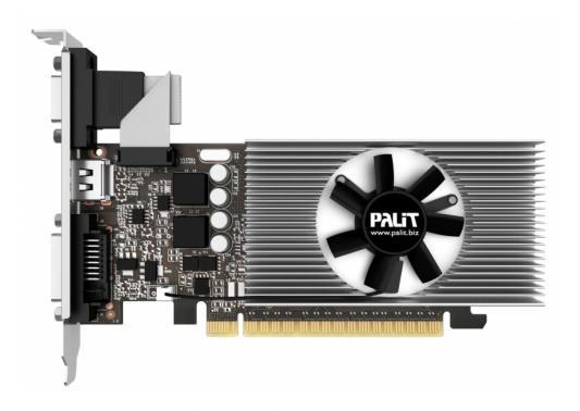 Видеокарта 2048Mb Palit GeForce GT730 PCI-E DVI HDMI HDCP PA-GT730K-2GD5H NE5T7300HD46-2081F Oem