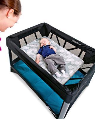Манеж-кроватка 4moms Breeze 2 (голубой)
