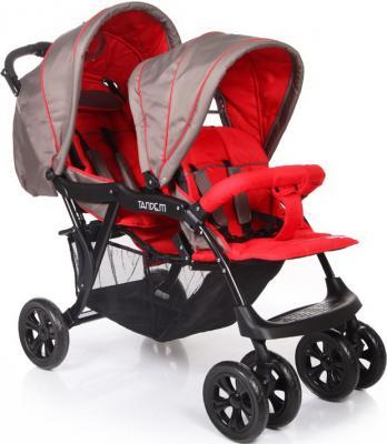Коляска для двойни Baby Care Tandem (grey/red) коляска baby care baby care коляска для двойни tandem brown grey