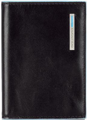 Чехол Piquadro Blue Square для кредитных карт кожа черный PP1661B2/N