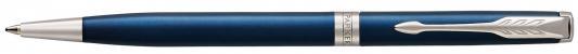 Шариковая ручка поворотная Parker Sonnet Core K439 Slim LaqBlue CT черный M 1945365