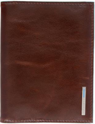 Обложка для паспорта Piquadro Blue Square кожа коричневый PP1660B2/MO