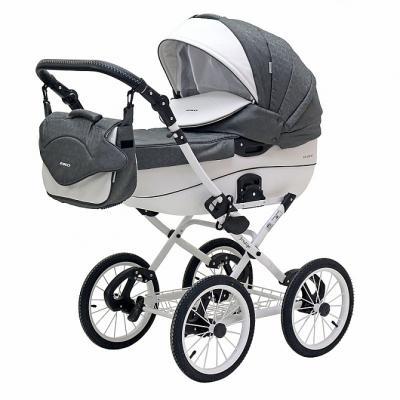 Коляска 2-в-1 Riko Bruno Ecco Prestige (17/серый) коляска indigo carmen 17 35 серый узор квадрат 2 в 1