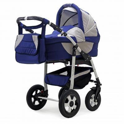 Коляска 2-в-1 Teddy BartPlast Serenade PCO (02N/синий-серый) коляска 3 в 1 teddy bartplast serenade pco f графит серый