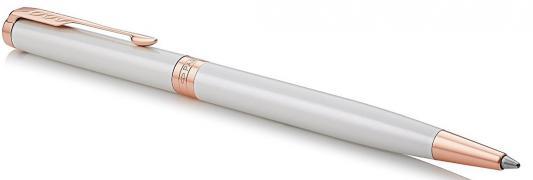 Шариковая ручка поворотная Parker Sonnet Premium Slim K440 Pearl PGT черный M 1931556 шариковая ручка поворотная parker sonnet premium k531 masculine brown pgt черный m 1931483