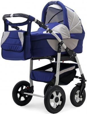 Коляска 3-в-1 Teddy BartPlast Serenade PCO-F (02N/синий-серый) коляска 2 в 1 teddy bartplast serenade pco синий голубой 01