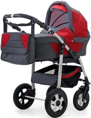 Коляска 3-в-1 Teddy BartPlast Serenade PCO-F (05N/серый-красный) коляска rudis solo 2 в 1 графит красный принт gl000401681 492579