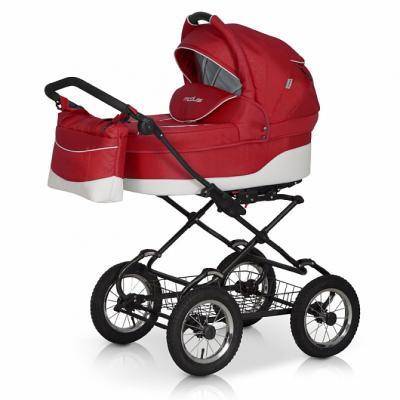 Коляска 2-в-1 Riko Modus Classic (13/белый-красный) коляска rudis solo 2 в 1 графит красный принт gl000401681 492579