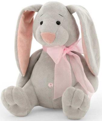 """Мягкая игрушка кролик ORANGE """"Кролик Лелик"""" искусственный мех текстиль пластик полиэстер серый 30 см"""