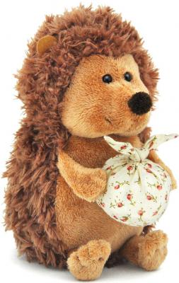 Мягкая игрушка ежик ORANGE Колюнчик с узелочком искусственный мех коричневый 26 см мягкая игрушка собака orange чихуа kiki малиновый блеск текстиль искусственный мех розовый коричневый 25 см ld010