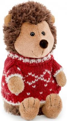 Мягкая игрушка ежик ORANGE Колюнчик в свитере текстиль искусственный мех коричневый 20 см мягкая игрушка собака orange чихуа kiki малиновый блеск текстиль искусственный мех розовый коричневый 25 см ld010