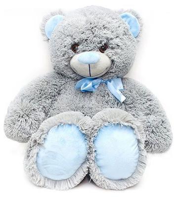 Мягкая игрушка медведь FANCY Медведь Сержик плюш пластик текстиль серый 65 см 4moms электронное mamaroo 3 0 серый плюш