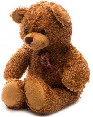 """Мягкая игрушка медведь FANCY """"Мишка Сашка"""" искусственный мех текстиль пластик коричневый 36 см"""