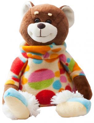 """Мягкая игрушка-грелка медведь FANCY """"Вместе теплее"""" плюш текстиль пластик семена просо коричневый 25 см"""