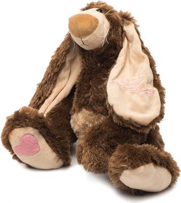 Мягкая игрушка заяц FANCY Счастливчик плюш коричневый 28 см