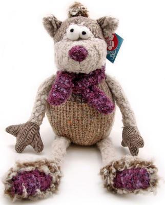 Мягкая игрушка кот Jackie Chinoco Вильям искусственный мех текстиль серый 30 см