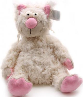 Мягкая игрушка кошка Jackie Chinoco Миа искусственный мех бежевый 31 см