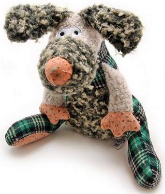 """Мягкая игрушка собака Jackie Chinoco """"Собака Чарли"""" текстиль искусственный мех пластик разноцветный 27 см"""