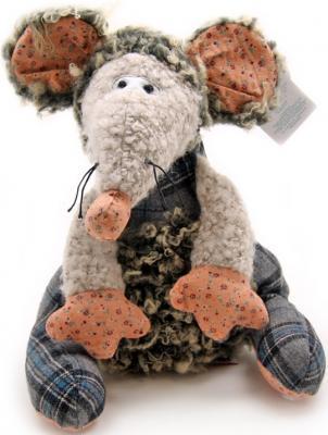 Мягкая игрушка мышка Jackie Chinoco Томас искусственный мех текстиль серый 27 см