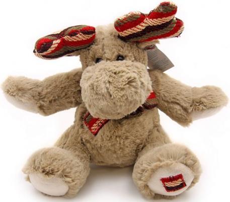 Мягкая игрушка Jackie Chinoco Северный олень Джек плюш коричневый 22 см