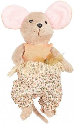 "Мягкая игрушка мышка Fluffy Family Country mouse ""Тыковка"" текстиль бежевый 25 см 681205"