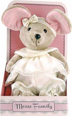 """Мягкая игрушка мышка Fluffy Family Вaby mouse """"Пушинка"""" искусственный мех текстиль бежевый 25 см 681208"""