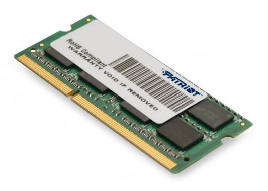 Оперативная память для ноутбуков SO-DDR3 4Gb PC10600 1333MHz Patriot PSD34G13332S