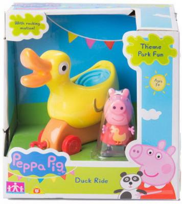 Каталка Peppa Pig Уточка с фигуркой 2 предмета