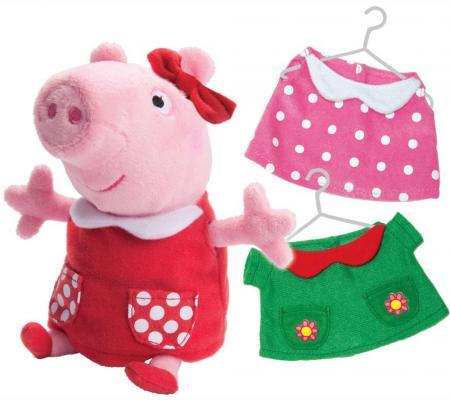"""Мягкая игрушка свинка РОСМЭН """"Свинка Пеппа"""" - Модница текстиль плюш розовый 20 см"""