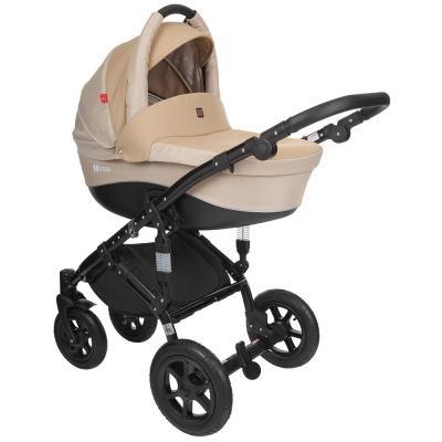 Коляска 2-в-1 Tutek Tirso (цвет ntr15/бежевый/шасси black) детская коляска 2 в 1 esspero tour grand шасси black