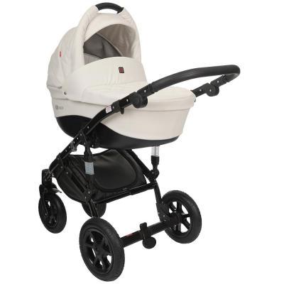 Коляска 2-в-1 Tutek Tirso ECO (цвет ntre5/белый/шасси black) коляска детская tutek timer 2 в 1