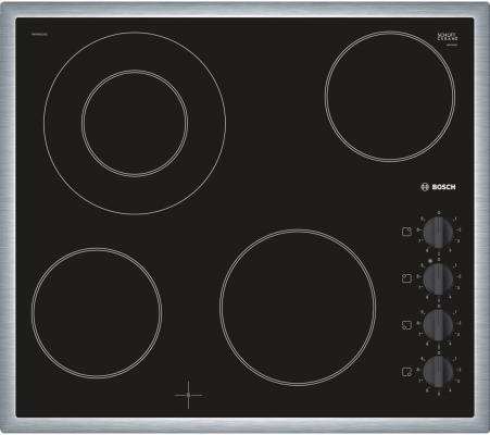 Варочная панель электрическая Bosch PKF645CA1E черный электрическая варочная панель bosch pkm646fp1r pkm646fp1r