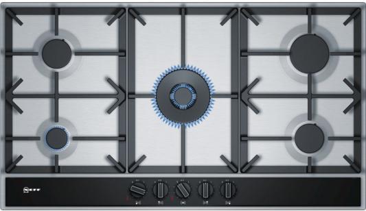 Варочная панель газовая NEFF T29DA69N0 серебристый вытяжка встраиваемая neff d46ed52x0 серебристый