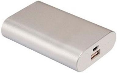 Портативное зарядное устройство Continent PWB50-152SV/SL 5000мАч серебристый портативное зарядное устройство canyon cns tpbp5w 5000мач белый