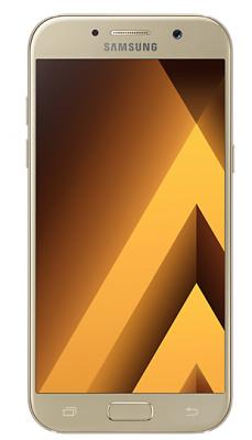 Смартфон Samsung Galaxy A5 Duos 2017 золотистый 5.2 32 Гб NFC LTE Wi-Fi GPS 3G SM-A520FZDDSER чехол флип кейс promate zimba s5 синий