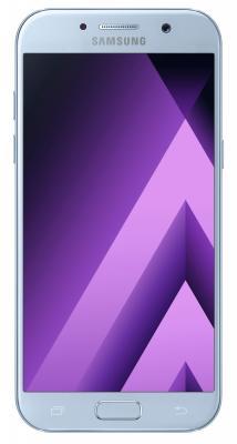 Смартфон Samsung Galaxy A5 Duos 2017 синий 5.2 32 Гб NFC LTE Wi-Fi GPS 3G SM-A520FZBDSER samsung galaxy s4 2 ядра dual 5 дюймов wi fi duos android 4 0 2 sim