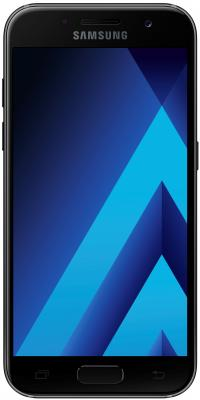 Смартфон Samsung Galaxy A3 Duos 2017 черный 4.7 16 Гб NFC LTE Wi-Fi GPS 3G SM-A320FZKDSER samsung galaxy s4 2 ядра dual 5 дюймов wi fi duos android 4 0 2 sim