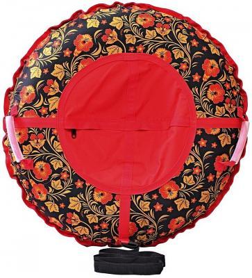 Тюбинг RT Узор Хохлома, диаметр 105 см до 120 кг разноцветный ПВХ