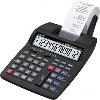 Калькулятор бухгалтерский CASIO HR-150RCE-WA-EC 12-разрядный черный